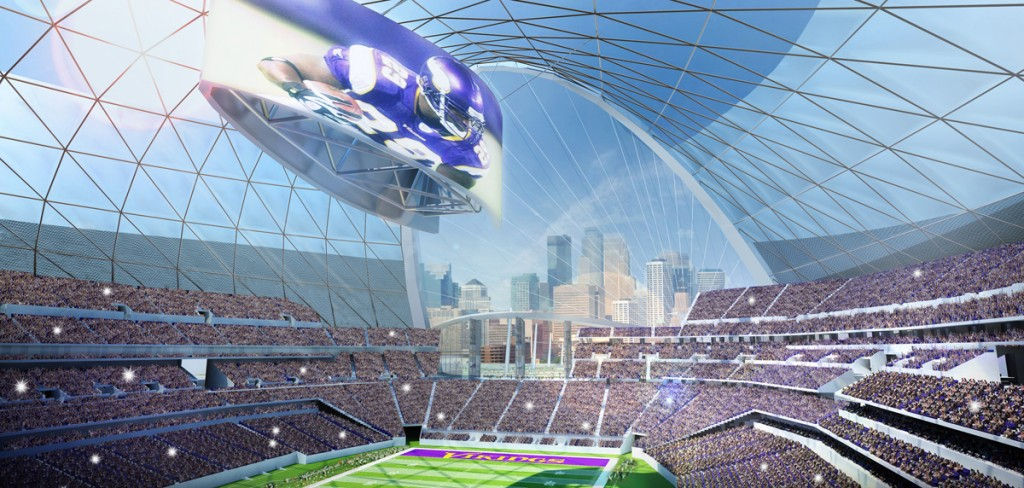 Interior Concept of New Vikings Stadium